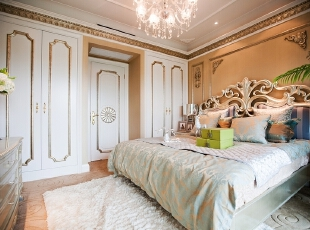 ,80平,30万,现代,两居,卧室,春色,