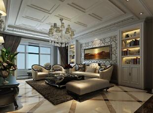 ,190平,20万,现代,大户型,客厅,白色,
