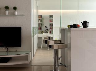 另一个角度看看客厅电视柜。,88平,10万,简约,两居,客厅,白色,