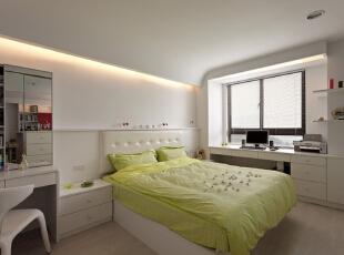 ,88平,10万,简约,两居,卧室,白色,