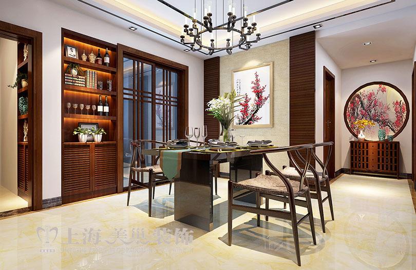 滨河名家166平方新中式风格装修样板间——餐厅装修效果图