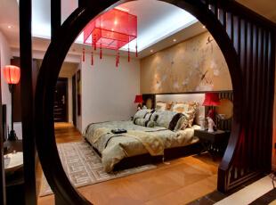 ,160平,11万,中式,四居,卧室,黄色,原木色,