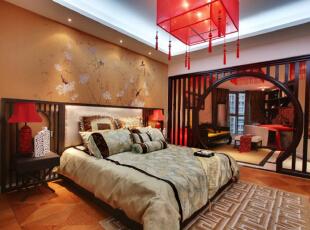 ,160平,11万,中式,四居,卧室,黄色,红色,白色,