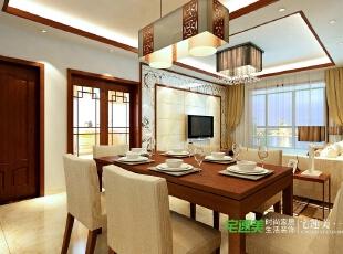 """要想家居美,就选宅速美 全国首创""""一口价""""装修模式 集设计、施工、材料、家具、售后为一体,家庭装修系统化,规模化,材料小到开关插座,大到洁具,家具,橱柜等纳入整个家装生产流程,形成""""工厂化""""为主导的家装模式。,124平,83800万,中式,三居,餐厅,原木色,"""