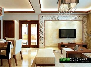 """要想家居美,就选宅速美 全国首创""""一口价""""装修模式 集设计、施工、材料、家具、售后为一体,家庭装修系统化,规模化,材料小到开关插座,大到洁具,家具,橱柜等纳入整个家装生产流程,形成""""工厂化""""为主导的家装模式。,124平,83800万,中式,三居,客厅,白色,"""