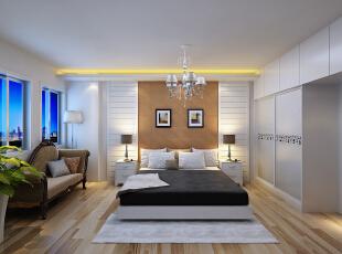 ,90平,8万,现代,两居,卧室,白色,