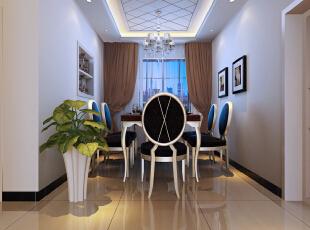 ,90平,8万,现代,两居,餐厅,白色,