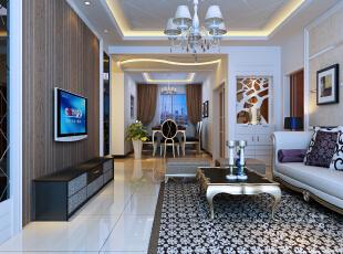 ,90平,8万,现代,两居,客厅,原木色,白色,