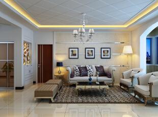 ,90平,8万,现代,两居,客厅,白色,