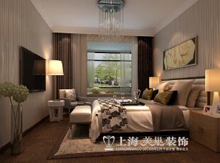 蓝海港湾99平两室两厅现代简约风格装修方案——卧室装修效果图,99平,7万,现代,两居,卧室,原木色,