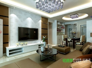 """要想家居美,就选宅速美 全国首创""""一口价""""装修模式 集设计、施工、材料、家具、售后为一体,家庭装修系统化,规模化,材料小到开关插座,大到洁具,家具,橱柜等纳入整个家装生产流程,形成""""工厂化""""为主导的家装模式。,95平,62800万,欧式,三居,客厅,"""