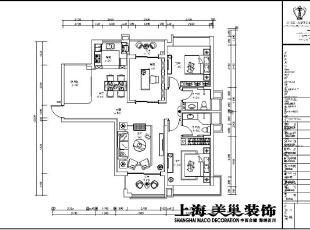 瀚宇天悦131平方三室两厅平面设计方案,131平,9万,三居,现代,