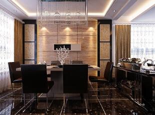【南昌实创整体家装】餐厅新古典风格,145平,20万,新古典,四居,客厅,现代,黑白,