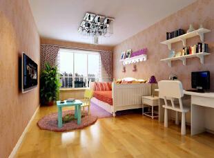 ,140平,11万,简约,三居,卧室,粉红色,