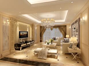 ,135平,0万,欧式,两居,客厅,黄色,