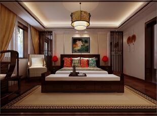 ,150平,20万,中式,三居,卧室,原木色,