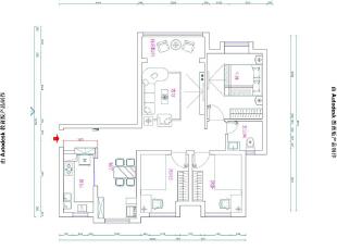 怡丰森林湖108平三室两厅美式乡村风格装修效果图-平面设计方案,108平,3万,美式,三居,
