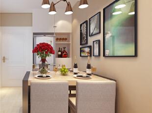日报社家属院90平两室两厅现代简约装修效果图,90平,3万,现代,三居,餐厅,黄白,
