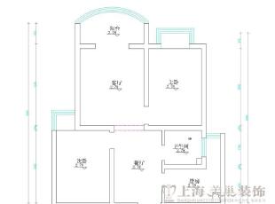 日报社家属院90平两室两厅现代简约装修效果图-平面设计方案,90平,3万,现代,三居,