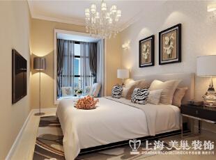 日报社家属院90平两室两厅现代简约装修效果图-卧室效果图,90平,3万,现代,三居,卧室,黄白,