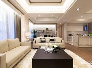 ,113平,15万,新古典,三居,客厅,灰白,