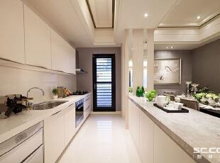 ,113平,15万,新古典,三居,厨房,白色,