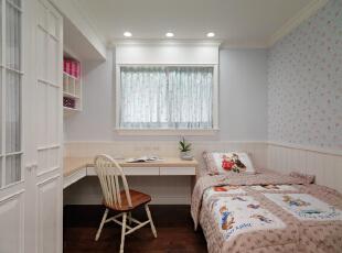 ,130平,5万,美式,三居,卧室,白蓝,