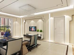 ,300平,22万,四居,现代,客厅,白色,