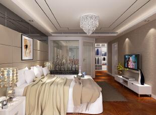 ,300平,22万,四居,现代,卧室,黄白,黑色,