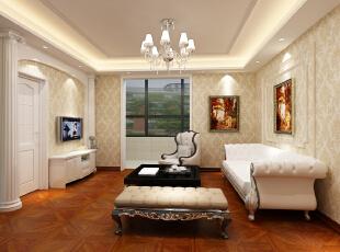 ,300平,22万,四居,现代,客厅,黄白,
