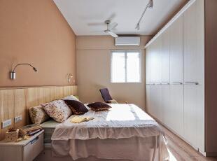 ,100平,7万,现代,三居,卧室,原木色,