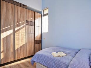 ,100平,7万,现代,三居,卧室,蓝色,
