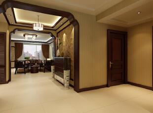 ,160平,15万,中式,三居,客厅,简约,原木色,