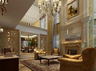 欧式风格中最大的特点就是讲古典主义风格中奢华繁复的装饰凝练得更为含蓄精雅,为硬而直的线条配上温婉雅致的软性装饰,将古典注入简洁实用的现代设计,使得家居装饰更有灵性,使得古典的美丽穿透岁月,在我们的身边活色生香。,800平,110万,新古典,别墅,客厅,黄白,