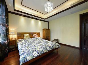 ,118平,12万,中式,两居,卧室,简约,原木色,