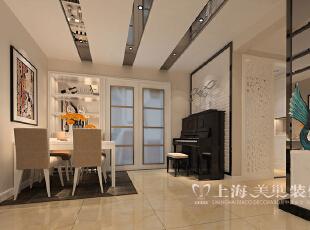 郑州锦艺国际华都89平三室两厅现代简约装修方案——餐厅装修效果图,89平,6万,现代,三居,餐厅,白色,