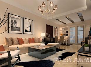 锦艺国际华都89平三室两厅现代简约装修案例——客厅装修效果图,89平,6万,现代,三居,客厅,白色,