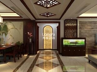 ,168平,7万,中式,三居,客厅,原木色,