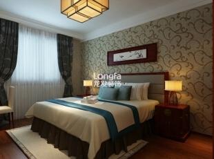 ,168平,7万,中式,三居,卧室,原木色,白色,