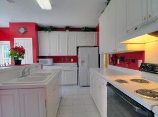 北京紫禁尚品国际装饰——厨房,160平,40万,美式,四居,厨房,白色,红色,绿色,黄色,