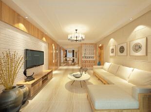 ,130平,30万,中式,三居,客厅,原木色,日式,