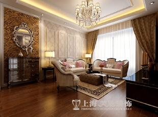郑州永威东棠90平三室两厅简欧风格装修方案——沙发背景墙装修效果图,90平,6万,欧式,三居,客厅,黄白,