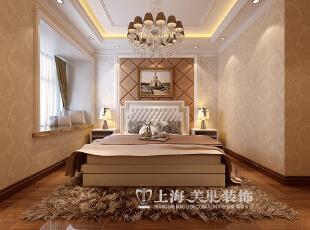 永威东棠90平3室2厅简欧风格装修效果图——卧室装修效果图,90平,6万,欧式,三居,卧室,黄白,