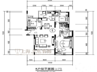 永威东棠90平三室两厅简欧风格装修户型图,90平,6万,欧式,三居,