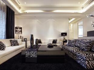 ,260平,50万,新古典,四居,客厅,白色,