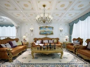 ,425平,三居,客厅,白色,