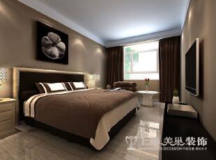 民安北郡新中式187平四室两厅装修效果图案例——老人房,187平,18万,中式,复式,卧室,棕色,