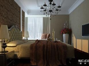 卧室设计: 简洁的硬装,在软装上面做的也比较少,照片墙来装饰床头背景,显得有活力。客餐厅的银灰色也引到了这个空间,使得空间和谐统一,146平,10万,现代,三居,