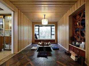 ,118.0平,12.0万,中式,三居,客厅,原木色,