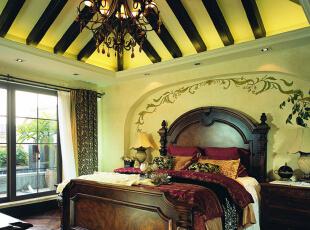 卧室设计: 简欧家具,竭力将家居营造温馨、优雅的情调空间,同时让这里成为可以放松身心的避风港。,200平,25万,欧式,别墅,